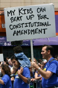 My kids can beat up your constitutional amendment